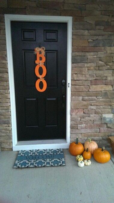 BOO sign DIY Halloween decorations Halloween dekoráció Pinterest - cheap diy halloween decorations