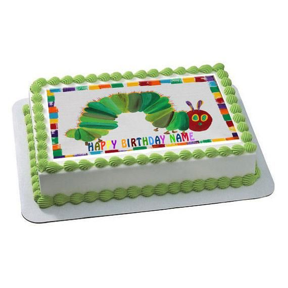 The Hungry Caterpillar Edible Birthday Cake Topper Or Cupcake Topper