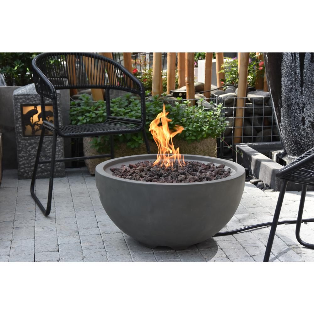 Modeno Nantucket 26 6 In Round Concrete Propane Fire Bowl In Propane In Athens Gray Ofg116 Lp The Home Depot In 2020 Natural Gas Fire Pit Propane Fire Bowl Gas Firepit
