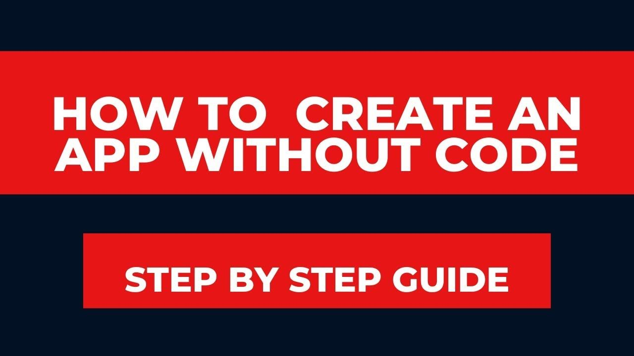 How To Create An App Without Code 2020 Coding How To Create Apps App Development