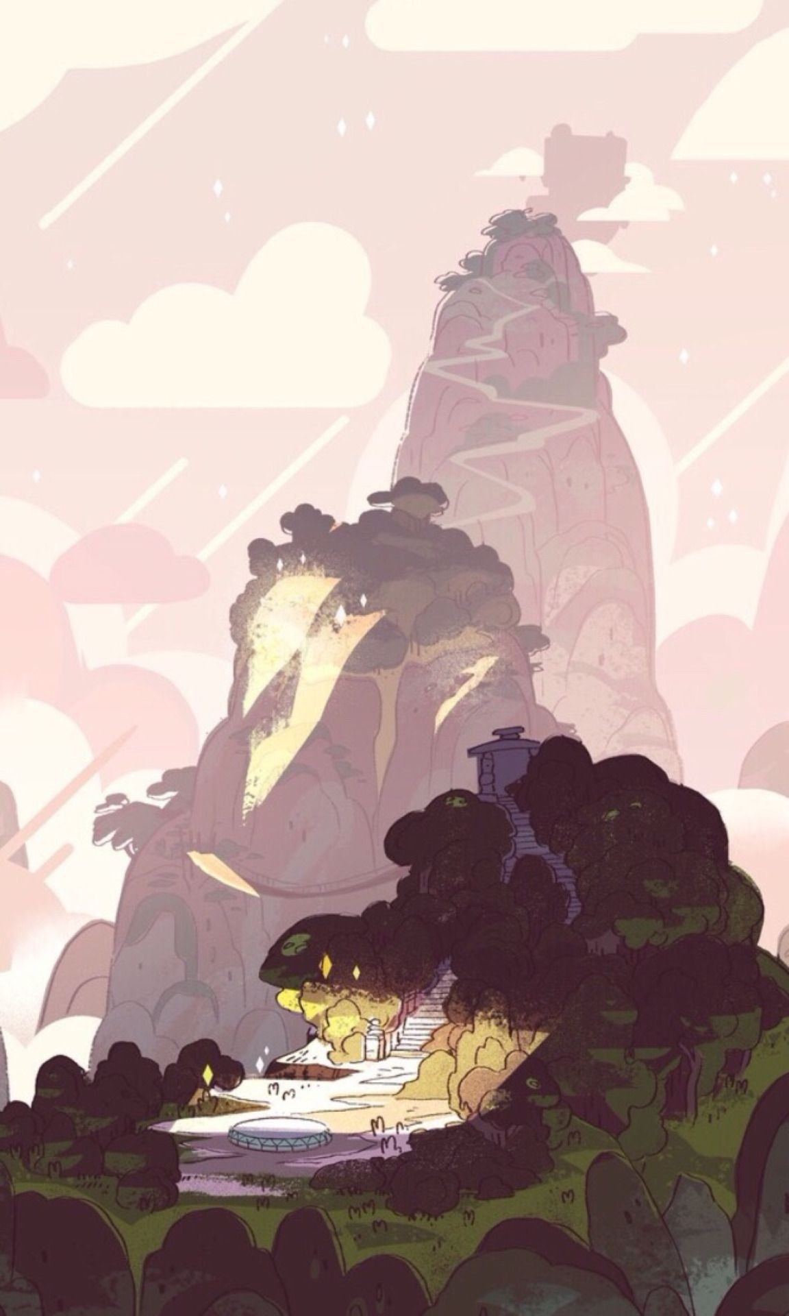 Cartoon Network Pink Backgrounds SU Aesthetic Phone Wallpaper Rebecca Sugar Steven Universe IPhone Background Redoing This