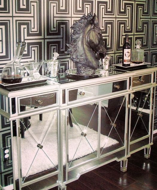 Our Borghese Mirrored Buffet Amp Slant Decanter Are So Chic