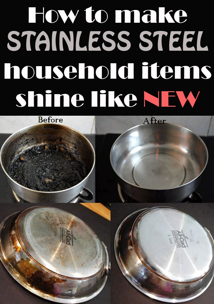 How To Make Stainless Steel Household Items Shine Like New Cleaning Ideas Make Your Cleaning Ri Cleaning Hacks House Cleaning Tips Stainless Steel Cleaning