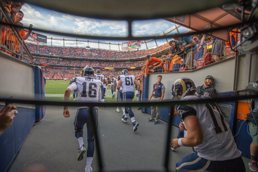 Creative Sports Shooting Ideas From The La Rams Training Camp Denver Broncos Broncos Training Camp