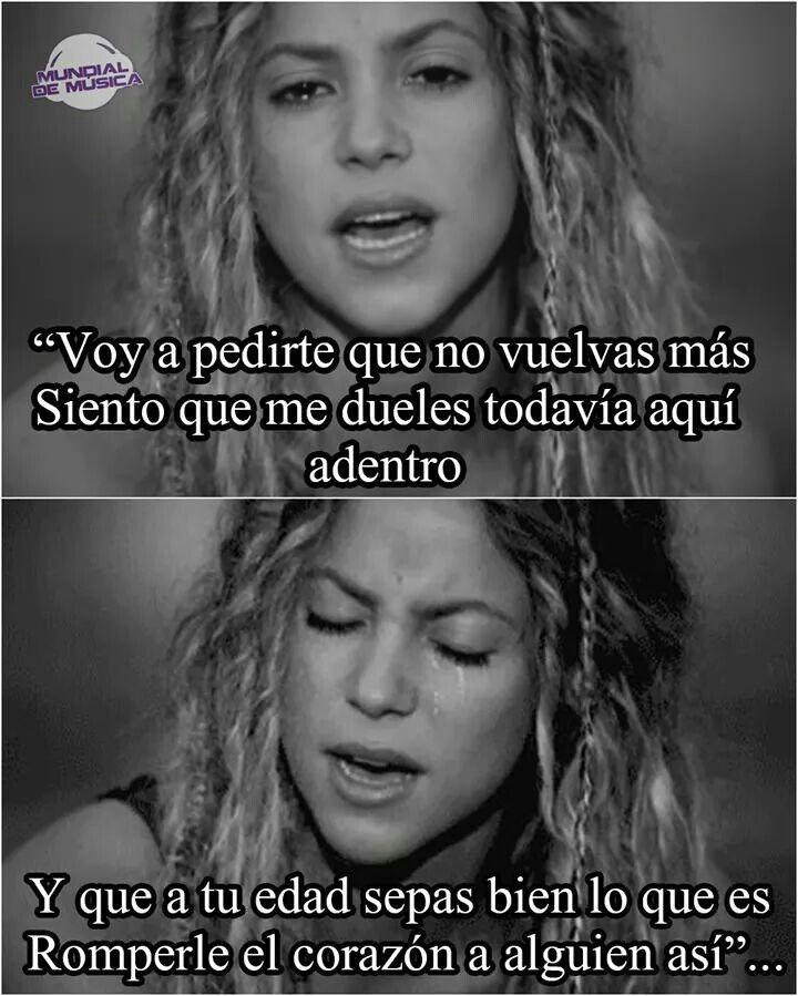 No Shakira Celebridades Pinterest Frases Frases De Musica Y