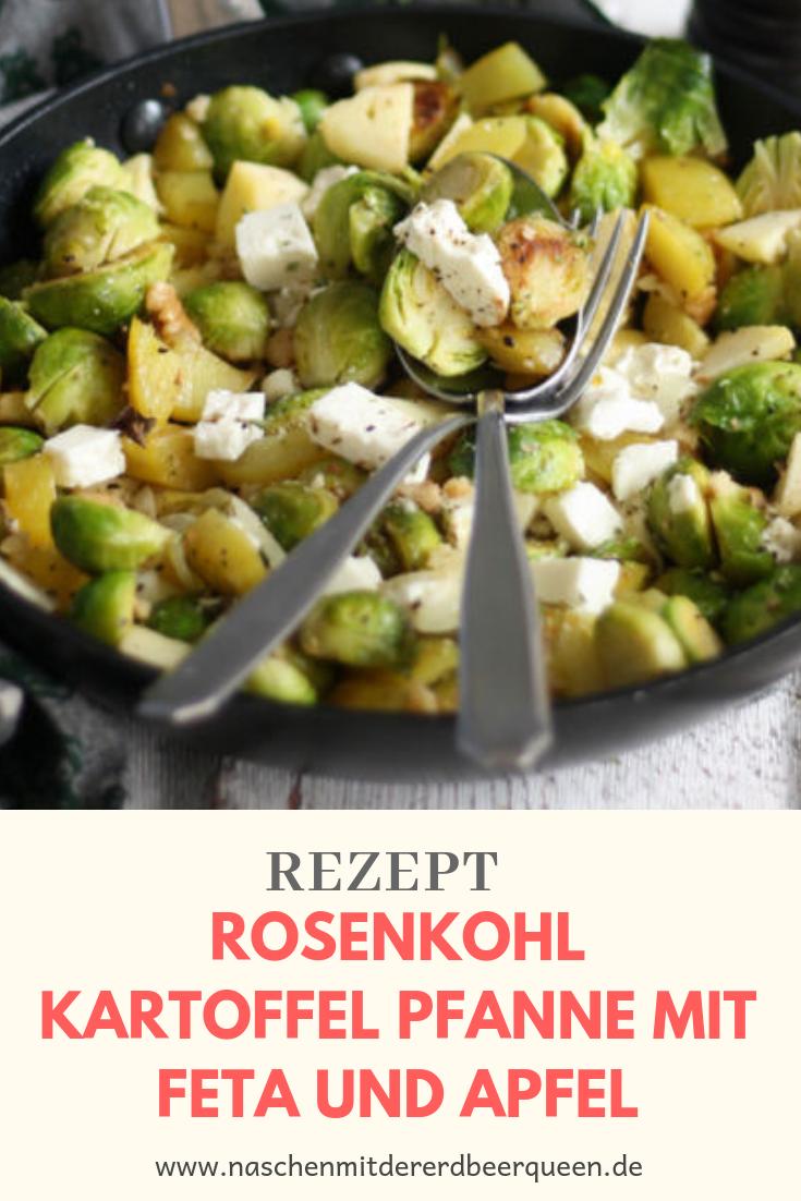 Rosenkohl Kartoffel Pfanne mit Feta ein einfaches Rosenkohl Rezept