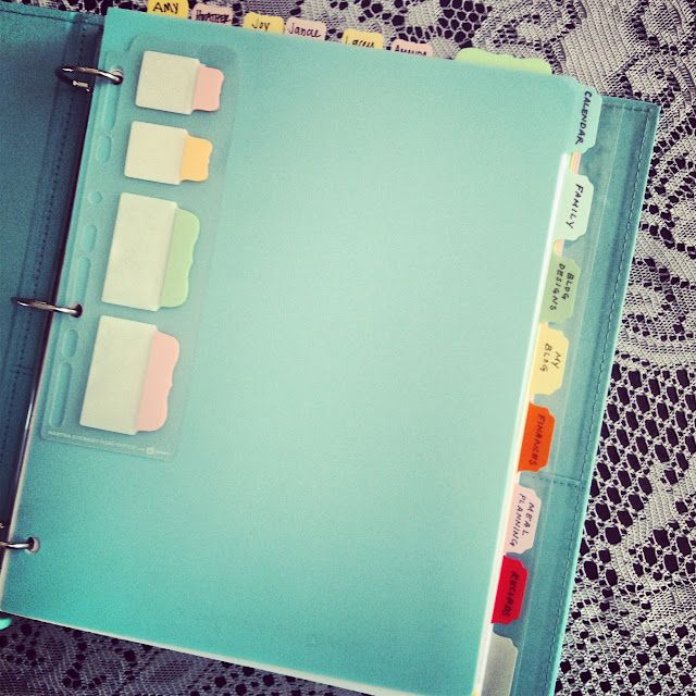 Milkglass and Honey: Household Binder Project