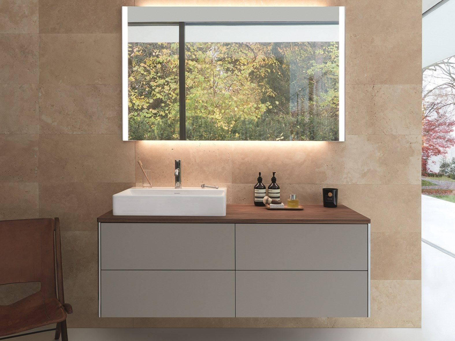 Lacquered Single Wall Mounted Vanity Unit Xsquare Wall Mounted Vanity Unit By Duravit Wall Mounted Vanity Duravit Vanity Units