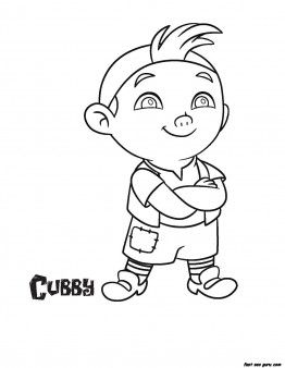 Jake And The Never Land Pirates Cubby Coloring Pages Printable