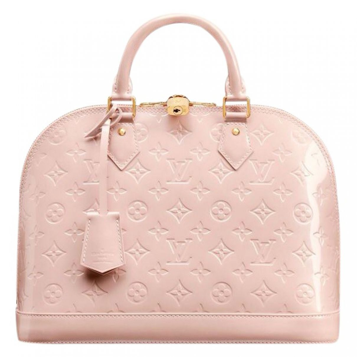 0e28e4502101 Louis Vuitton Pink Patent leather Handbag Alma