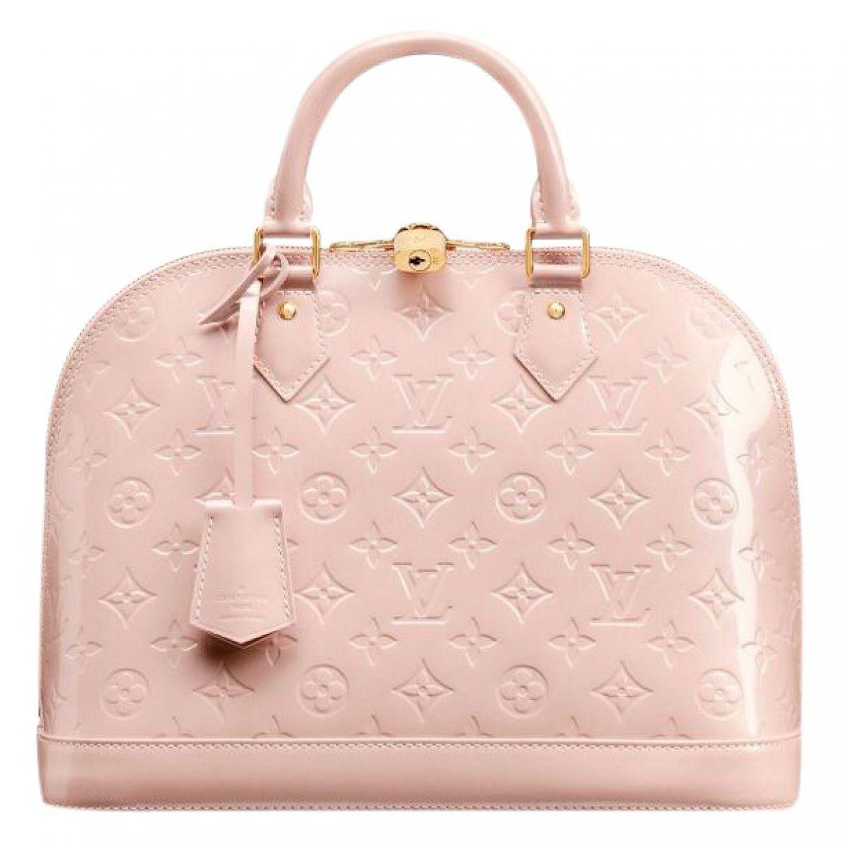 Louis Vuitton Pink Patent Leather Handbag Alma Vestiaire Collective