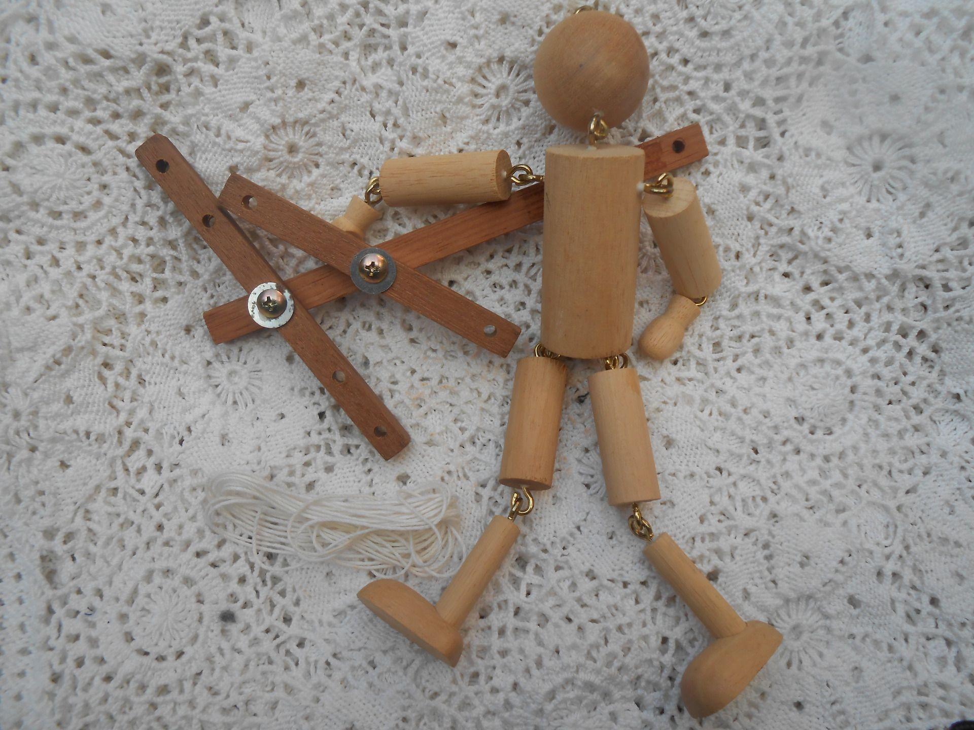 kit marionnette fil en bois articul e autres activit s enfants par balou99 marionnettes et. Black Bedroom Furniture Sets. Home Design Ideas
