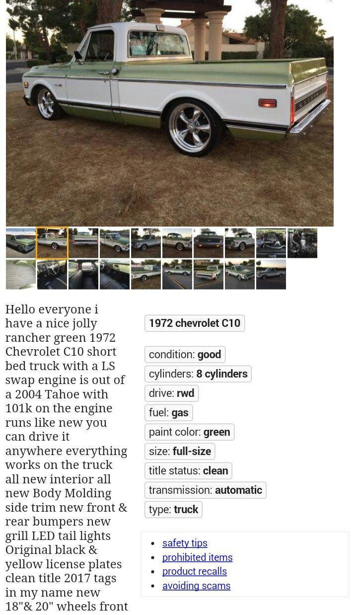 67 72 Chevy C10 Truck Chevy C10 C10 Trucks Trucks