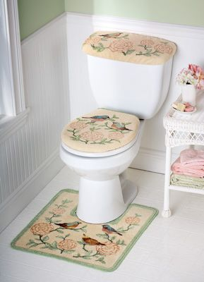 Birds And Blooms Bathroom Commode Seti Think I Just Turned In To An Old Lady