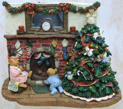 Boyds Bear Twas Used New For Sale Christmas Bear Boyds Bears Figurines Boyds Bears