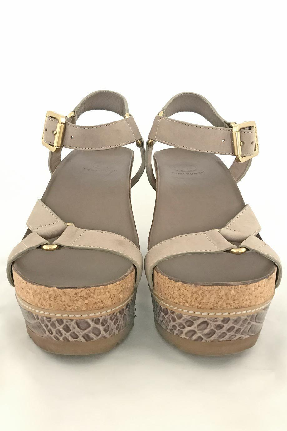 a880cc17ed8f87 These Tory Burch Brenden sandals are the perfect pair for your summer  wardrobe. The neutral