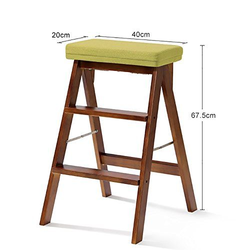 Remarkable Wood Step Stool Folding 3 Tier Ladder Stool Bench Seat Gmtry Best Dining Table And Chair Ideas Images Gmtryco
