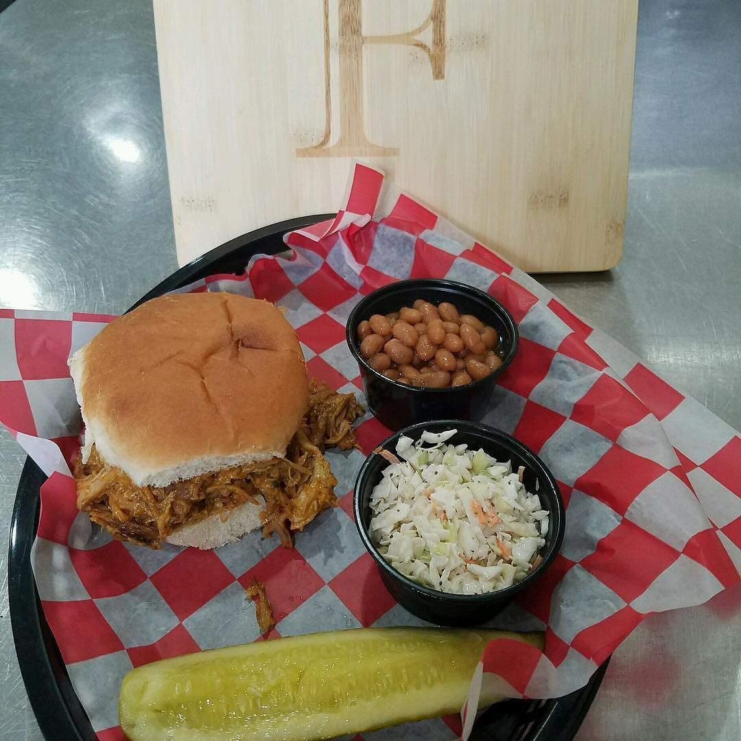 Our special today!!!!! BBQ SANDWICH SLAW AND BAKED BEANS
