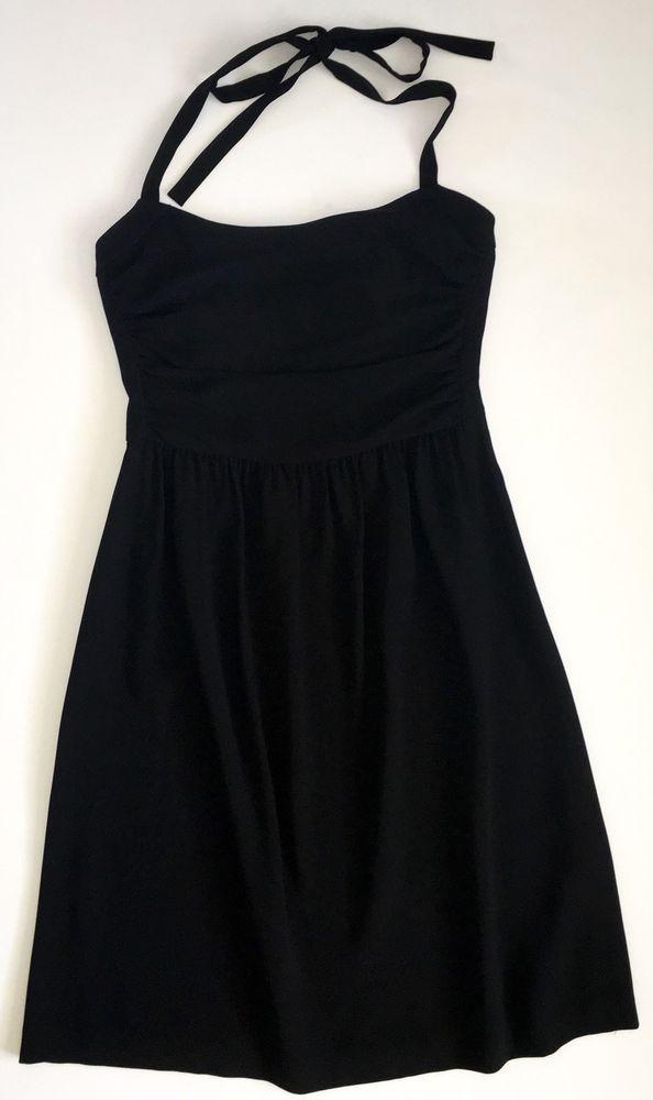 Antonio Melani Black Halter Dress Womens Sz 8 Ebay Women S