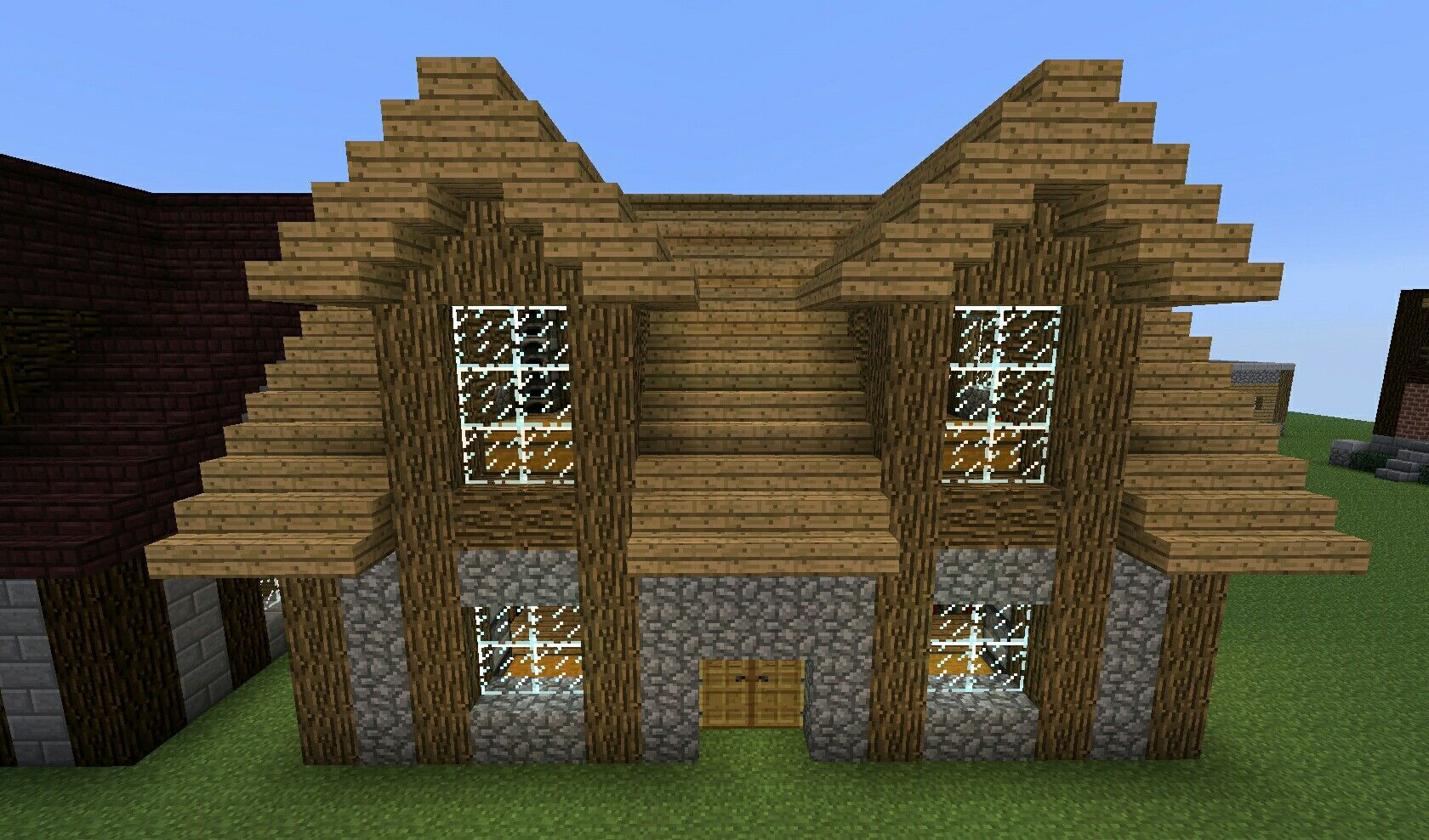 Pin by Renee B on Minecraft!   Minecraft small house, Easy ...