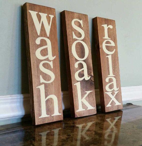 Rustic Bathroom Wall Decor wash soak relax sign bathroom wall decor bathroom signcscbymeg