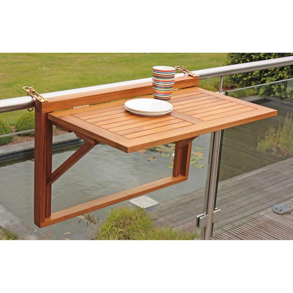 neu balkonhängetisch balkontisch aus holz klappbar balkonmöbel