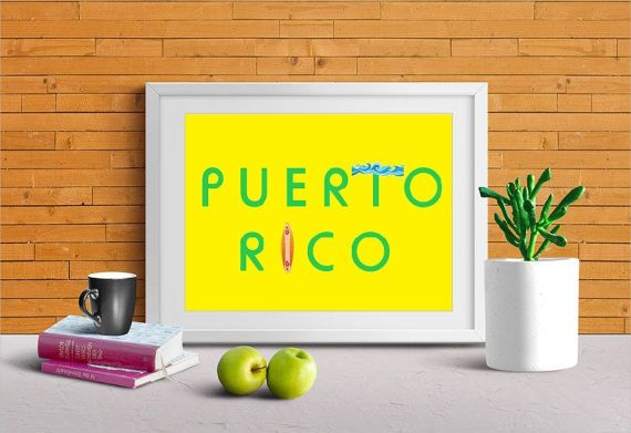 Puerto Rico Art Puerto Rico Canvas or Print Wall Decor | COOL ...