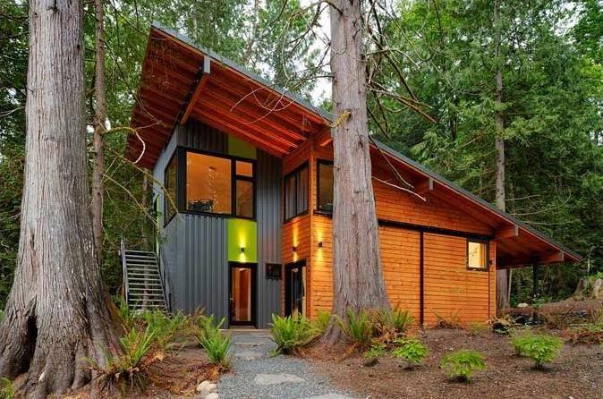 Single Slope Roof Metal Buildings Modern Mountain House
