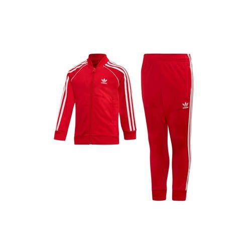 adidas originals Adicolor trainingspak rood Adidas
