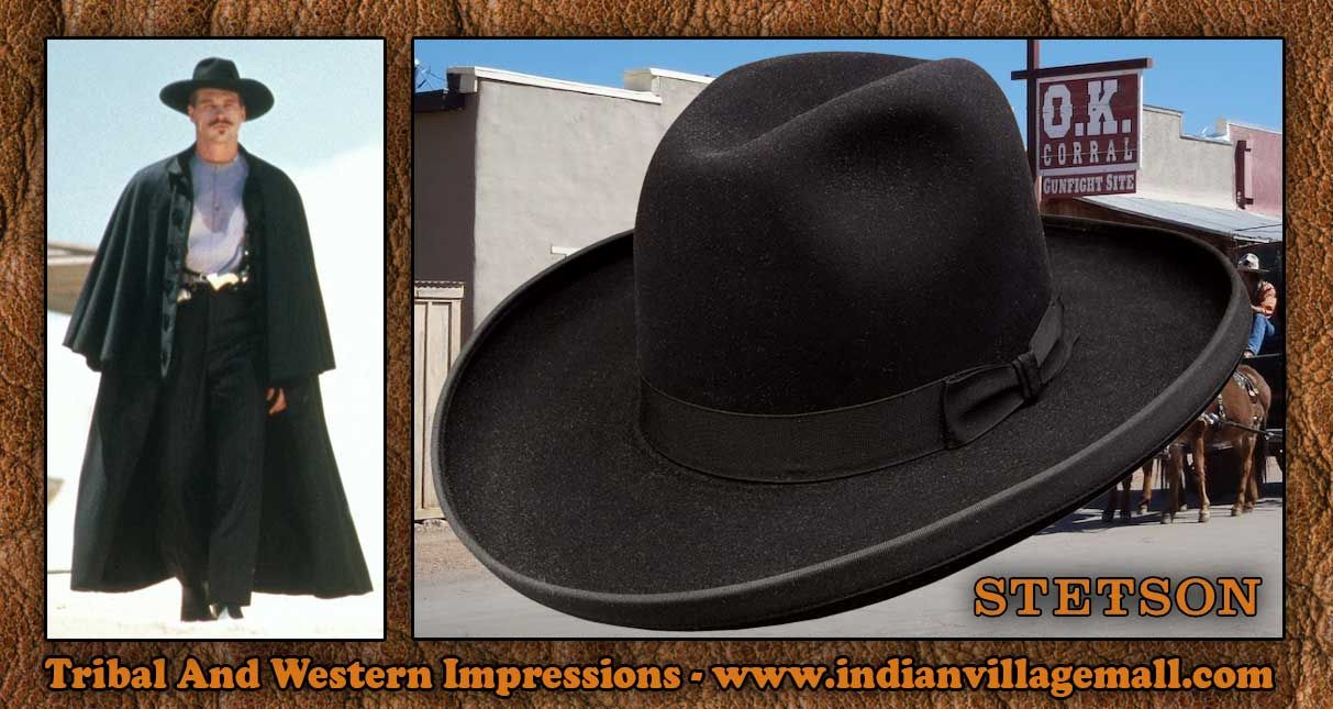 088776787d5be1 Authentic Old West Stetson 4X Sheridan Doc Holliday Style Hat From Tribal  And Western Impressions - www.indianvillagemall.com