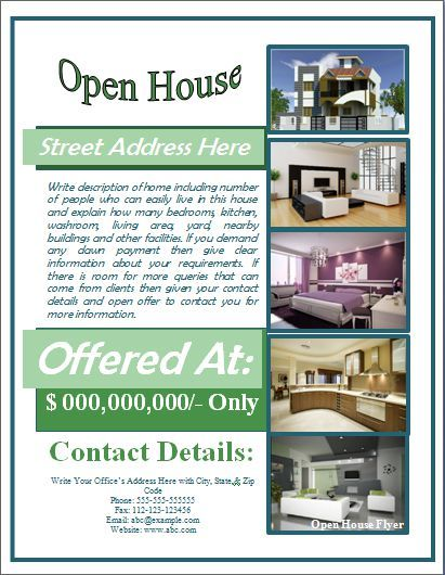 Open House Flyer Template Free for Mortgage Open House Flyer - Free Pamphlet Templates Microsoft Word