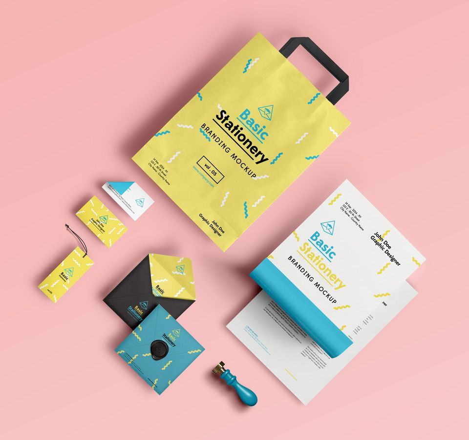 Basic Stationery Branding Vol 5 | Psd Mock Up Templates | Pixeden ...