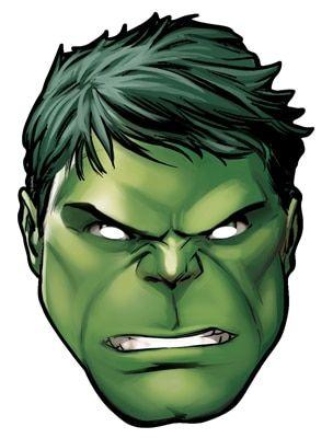 Hulk From Marvel S The Avengers Single Card Party Face Mask Party Face Masks Hulk Birthday Hulk Party