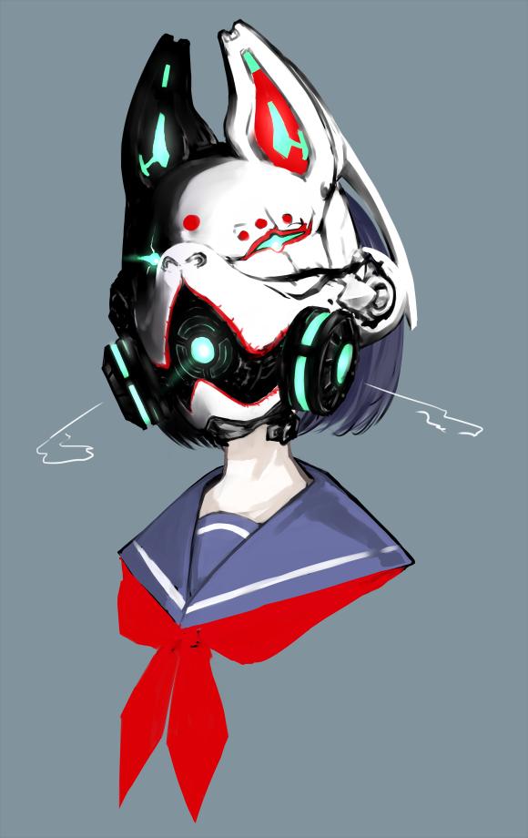 狐面ガスマスク