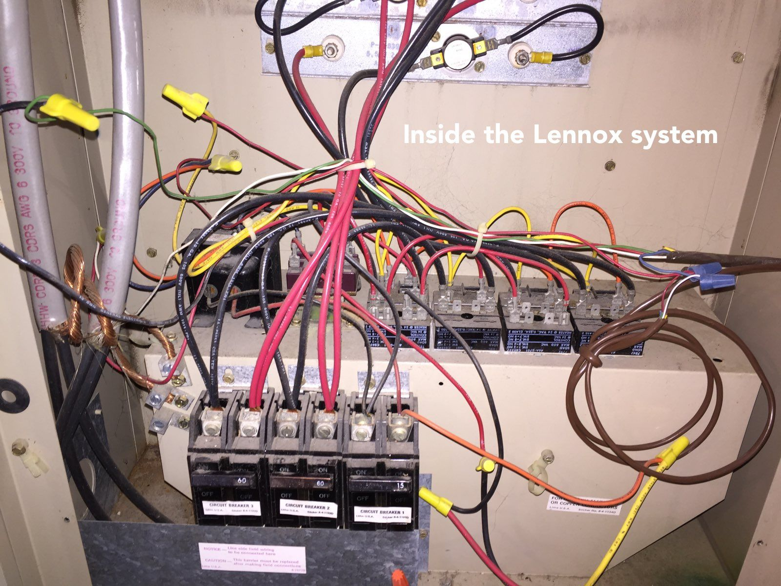 How To Add A C Wire An Old Lennox System Home Improvement For New In Furnace Thermostat Wiring