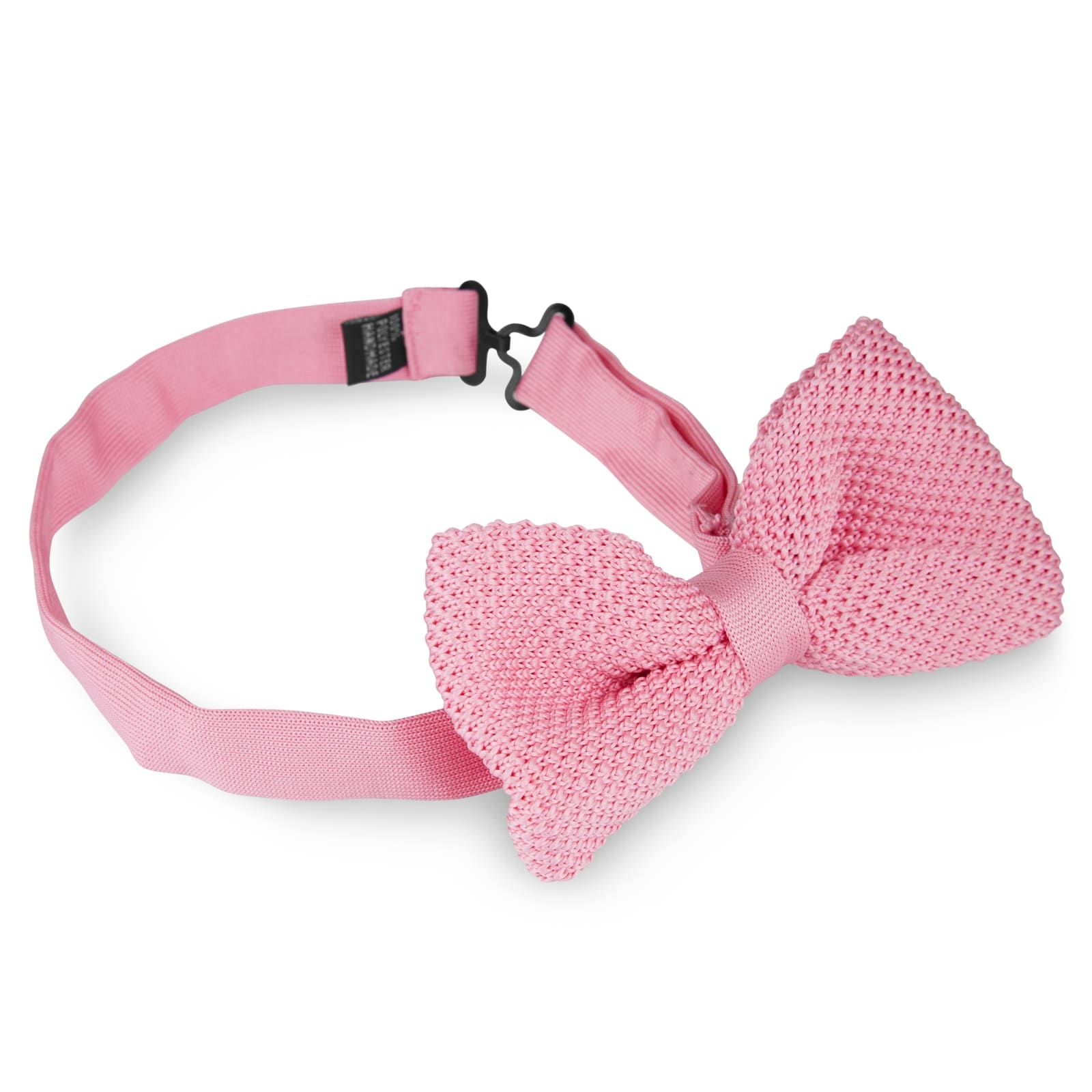 Photo of Light Pink Knitted Bow Tie | In stock! | Tailor Toki