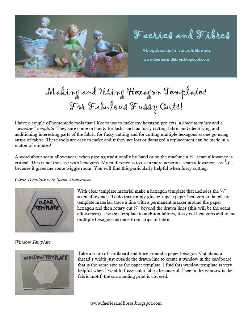 Making and Using Hexagon Templates.pdf | quilting | Pinterest | Pdf ...