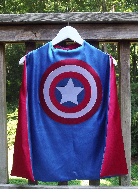 Captain America inspired Super Hero Cape | superheroes | Pinterest