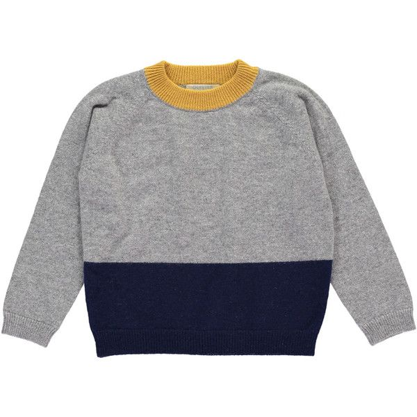 Cashmere Colour Block Jumper, Navy, Elephant and Mustard ❤ liked on Polyvore featuring tops, sweaters, color-block sweater, cashmere jumpers, colorful sweaters, navy top and pure cashmere sweaters
