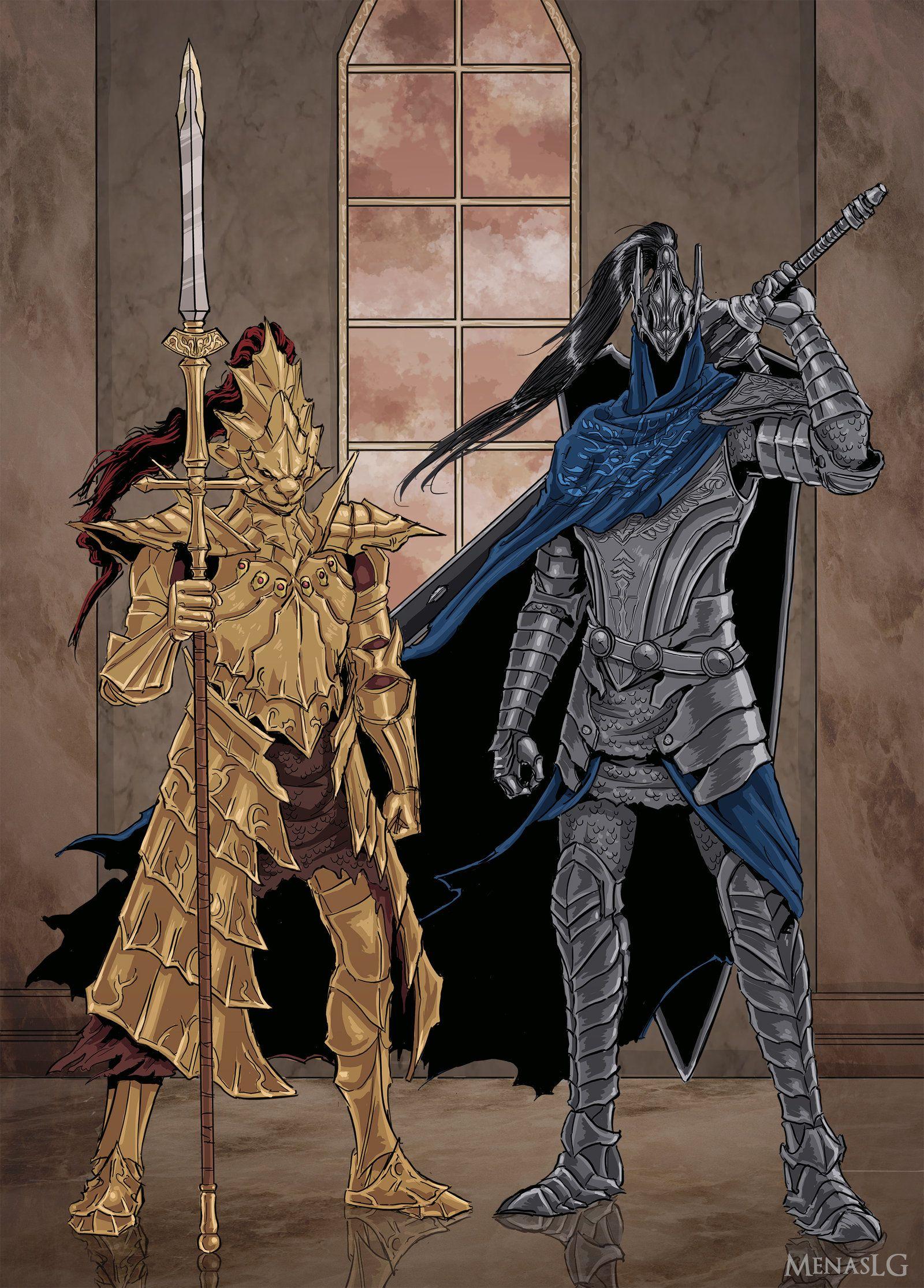 Dark Souls Ornstein And Artorias By Menaslg On Deviantart Arte