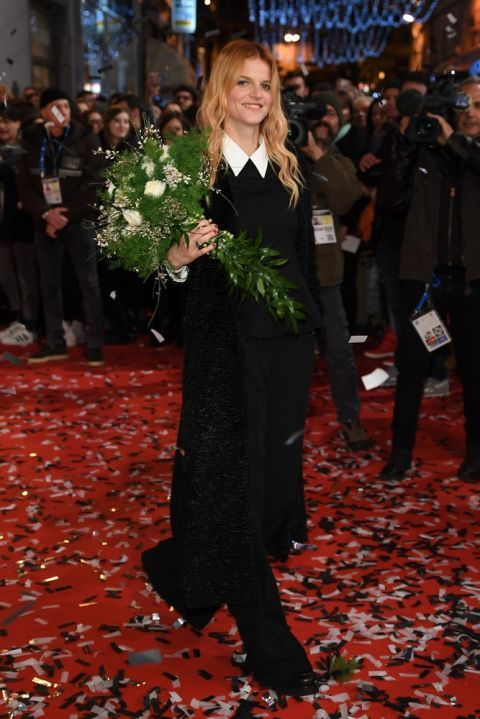 #Chiara Galazzo -  shoes Alberto Guardiani #Sanremo, the best outfits of the '2017 edition