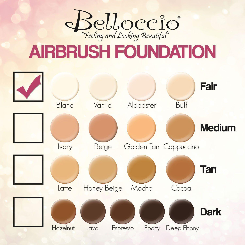 Belloccio Fair Color Shades Airbrush Makeup Foundation Set ...