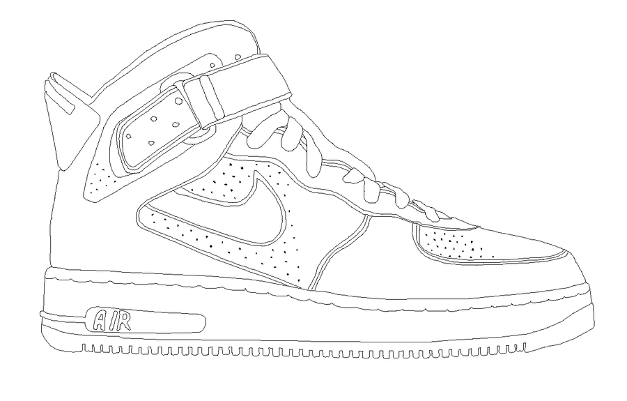 Nike Air Jordan Ajf Template Nike Air Air Force One Shoes Nike