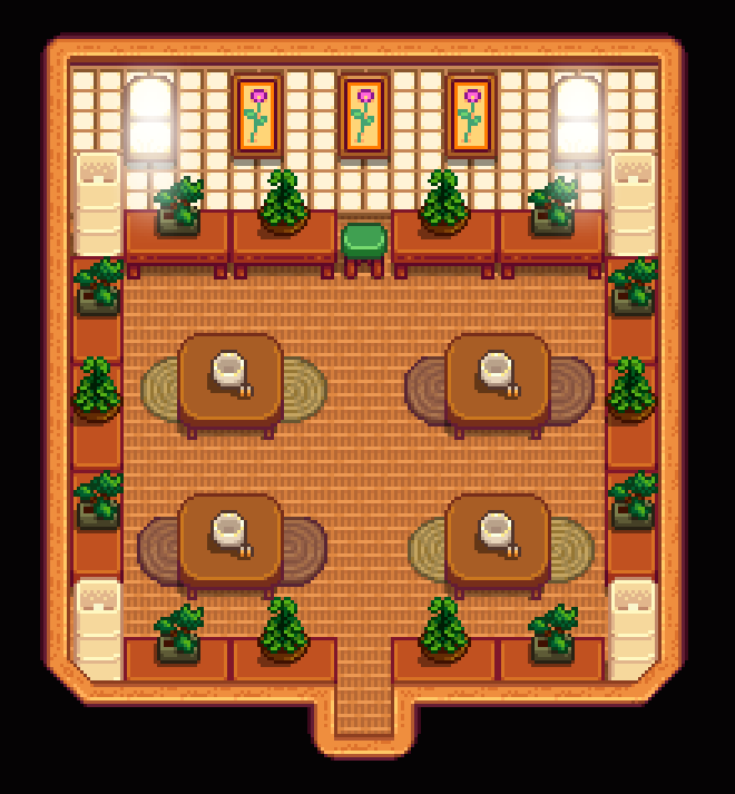 Anese Tea Room Shed Stardew Valley