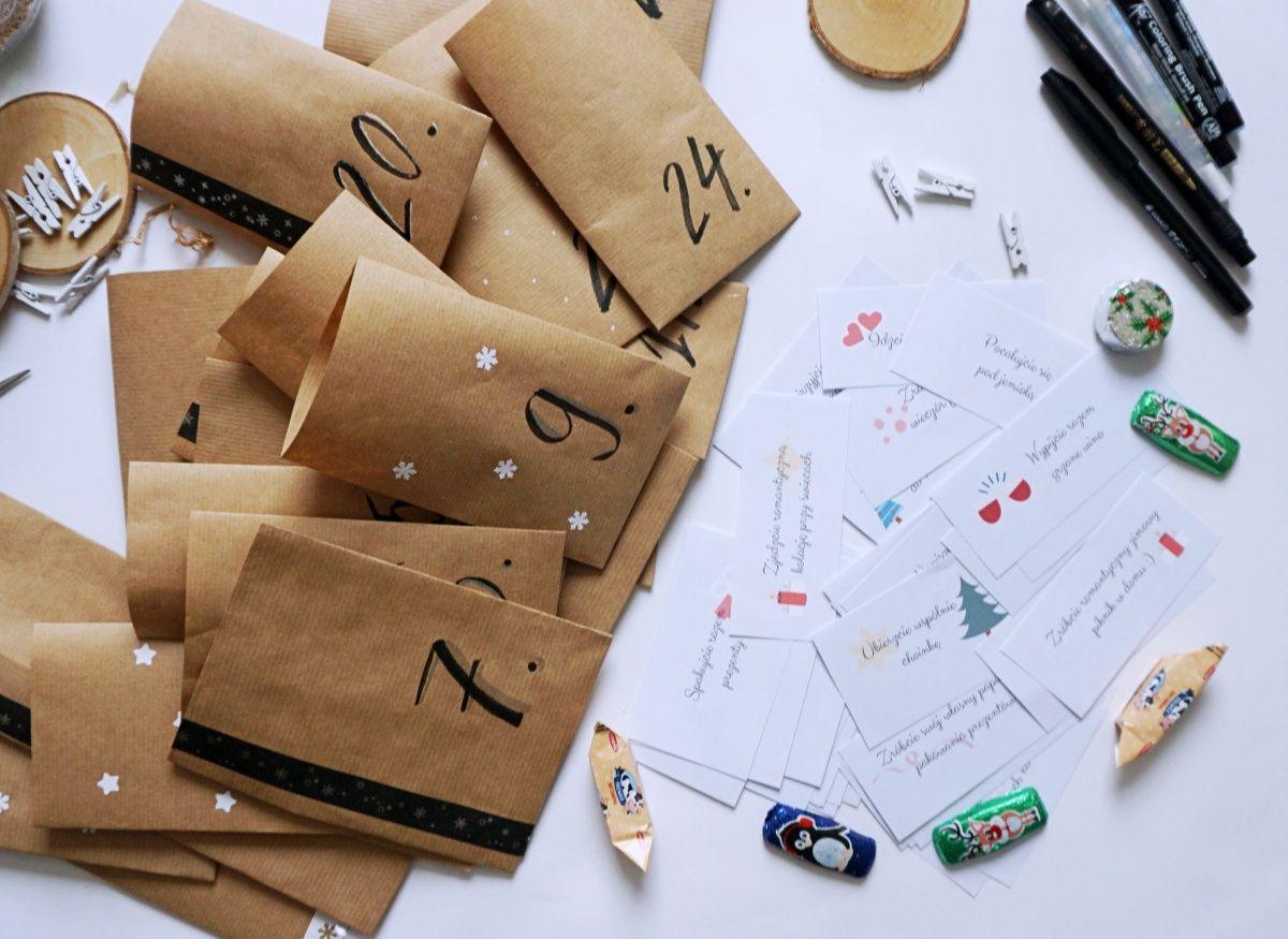 DIY Kalendarz adwentowy dla dwojga zadania dla par do