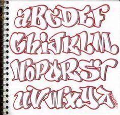 Block Letters Graffiti Alphabet