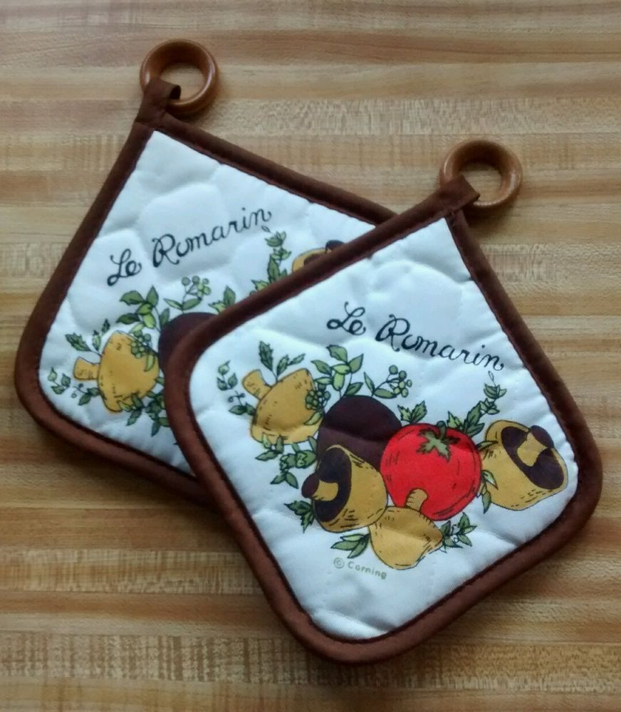 Corning Spice of Life 2 Vtg Pot Holders matches #Corelle and ...