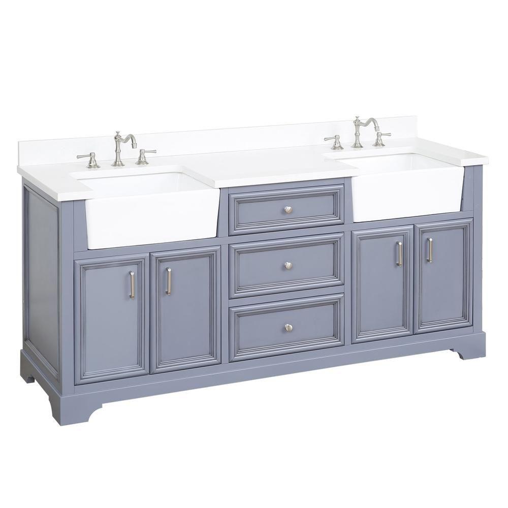 Zelda 72 Inch Farmhouse Double Vanity With Quartz Top In 2021 Double Vanity Bathroom Farmhouse Vanity Bathroom Vanity [ 1000 x 1000 Pixel ]