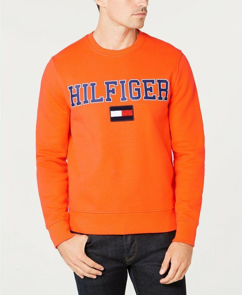 Ebay Sponsored 196 Tommy Hilfiger Men S Orange Long Sleeve Logo Sweater Crew Neck Sweatshirt L Sweatshirts Mens Sweatshirts Hilfiger [ 1000 x 820 Pixel ]