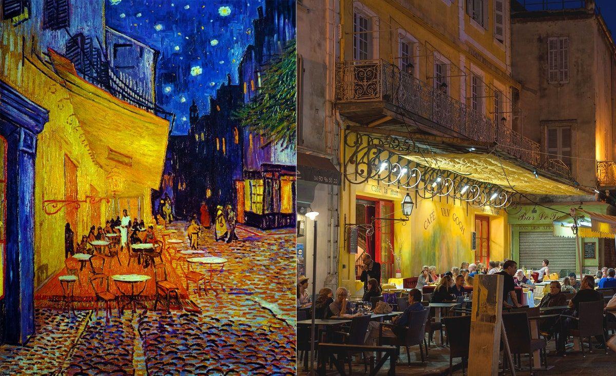 ***Café Terrace at Night*** **by Vincent van Gogh (Arles, France)**